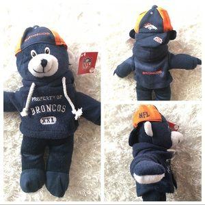 "NWT NFL Denver Broncos 12.5"" Teddy Hoodie Bear"